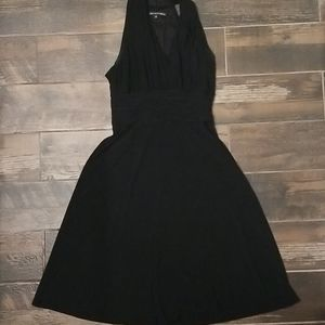 Black A line halter dress